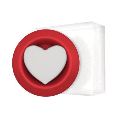 Hideg párologtató - vörös - szív