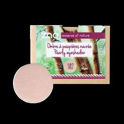 bio gyöngyház szemhéjpúder 102 pearly pinky beige utántöltő
