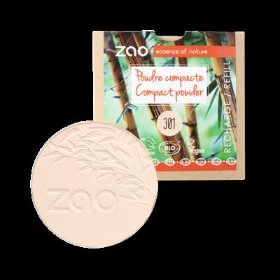 Bio kompakt púder 301 ivory utántöltő